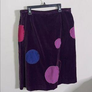BODEN velour skirt 14r